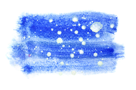 Winter watercolor background with abstract snowflakes