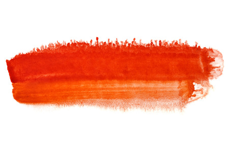 Red brush stroke - abstract watercolor background - space for your own text Stock Photo