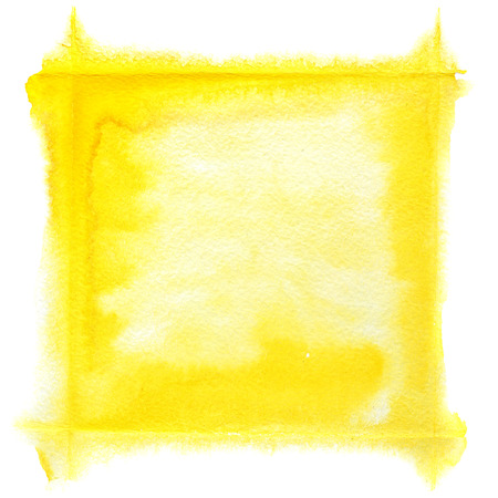 dabs: Yellow watercolor frame - space for your own text