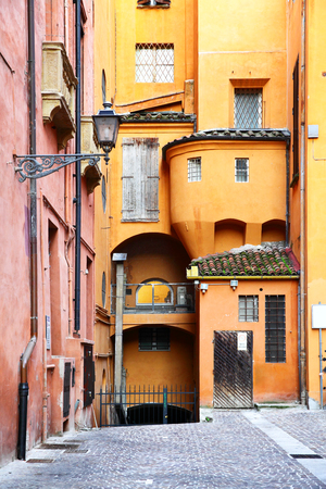 conglomeration: Old street in Bologna, Italy