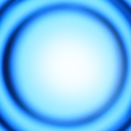 crimped: Blue abstract background with defocused concentric circles - space for your own text Stock Photo