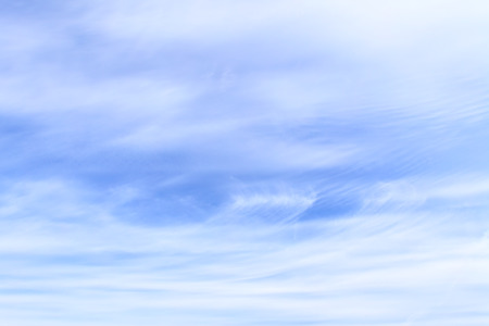 fleecy: Light fleecy clouds in the sky, may be used as abstract background Stock Photo