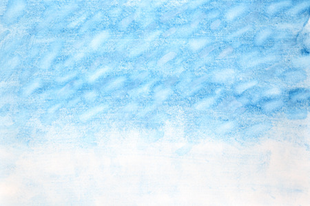 Snowstorm - Winter watercolor abstract background
