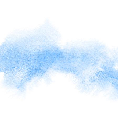 青の混沌水彩染色 - 抽象的な背景