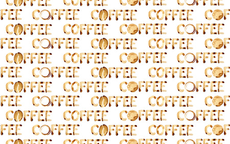 Word coffee - seamless patterm. May be used as background