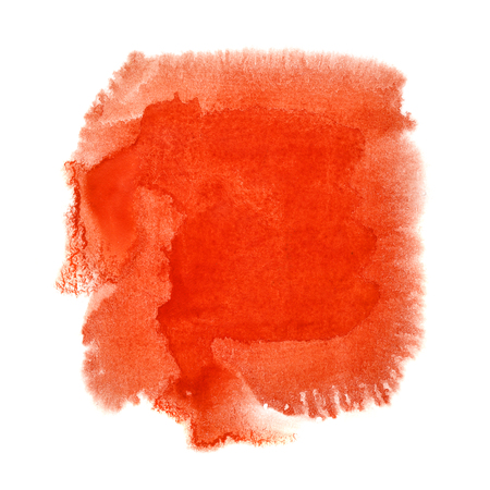 Red watercolor blot - space for your own text Zdjęcie Seryjne