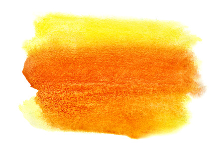 Vivid yellow orange watercolor stain - space for your own text