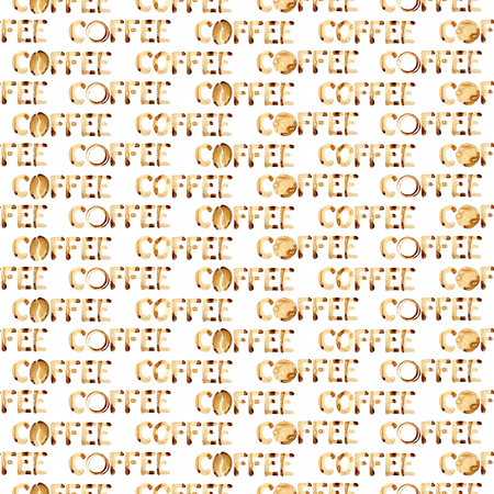 Word Coffee - seamless background