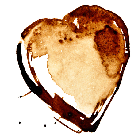 Coffee Heart isolated on the white background