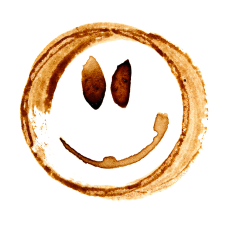 Funny smile face by coffee stains