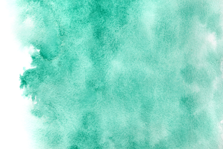 Abstract green watercolor background with isolated edge Stock Photo