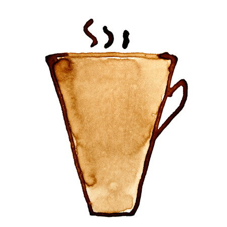 cofe: Coffee cup with steam sketched in coffee