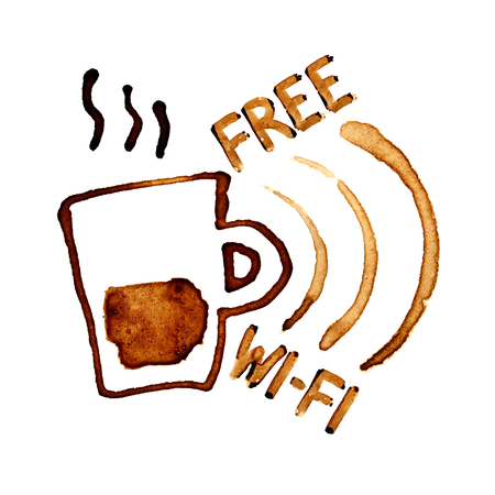 Free Wi-Fi sign by coffee stains