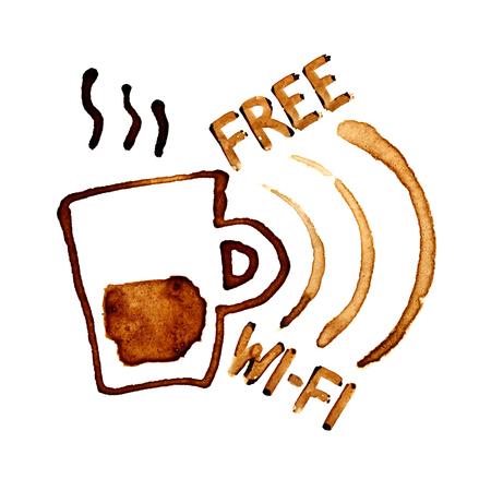 Kostenloses WLAN mit Kaffeeflecken