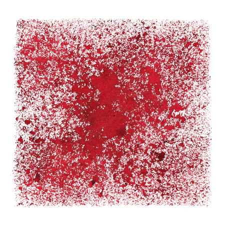 Red stenciled grunge square -  space for your own text - abstract raster illustration
