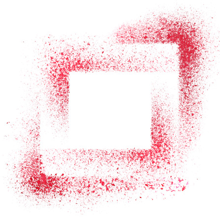 stenciled: Squares. Red stenciled abstract background - space for your own text - raster illustration Stock Photo