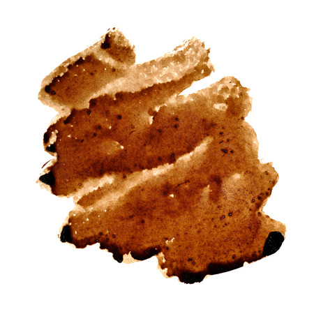 Zigzag coffee stain isolated over the background - space for your own text Stock Photo