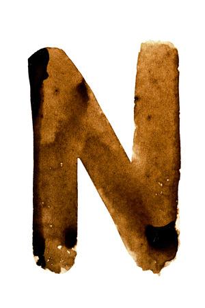 fount: Letter N - alphabet in coffee