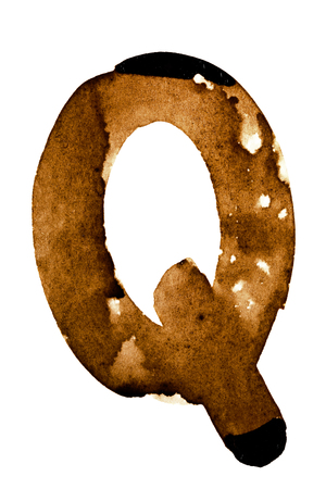 fount: Letter Q - alphabet in coffee