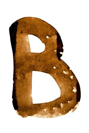 Letter B - alphabet in coffee