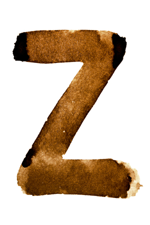 Letter Z - alphabet in coffee