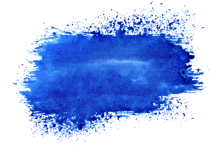 Blue expressive brush stroke - abstract background