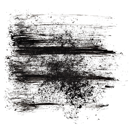 Black abstract background with strokes - ink drawing