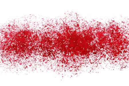 Sprayed stripe of red paint. Grunge abstract background. Raster illustration Stock Photo