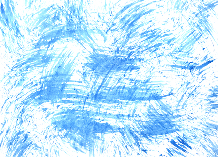 Texture with blue brush strokes - abstract background -- raster illustration