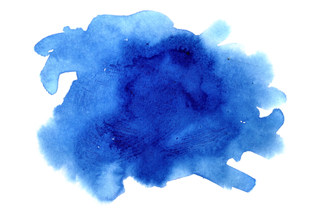 Dark blue watercolor stain - abstract background