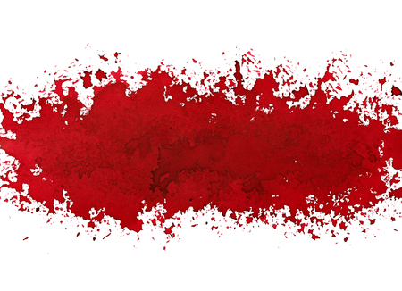 Red paint stripe. Street art style grunge abstract background. Raster illustration Stock Photo