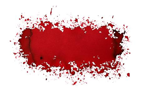Dark red sprayed stain. Street art style abstract background. Raster illustration Stock Photo