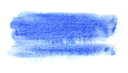 Blue watercolor brush stroke. Abstract background. Space for your own text. Raster illustration