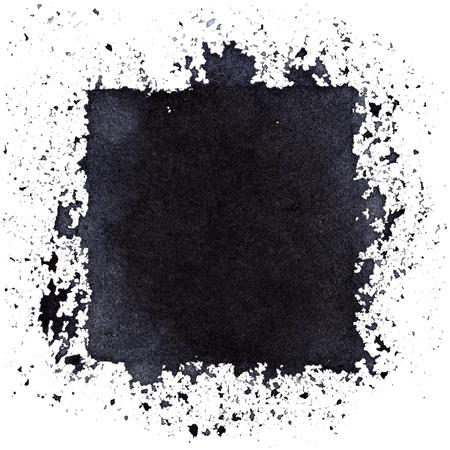 Quadrato nero grunge. Fondo astratto di stile di arte di strada. Spazio per il tuo testo. Illustrazione raster