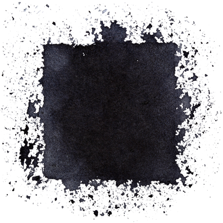 Grunge black square. Street art style abstract background. Space for your own text. Raster illustration