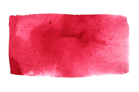 rectangle: Red watercolor rectangle. Abstract background with paper texture. Element for your design Stock Photo