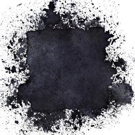 Hidden Black Square. Abstract background. Raster illustration