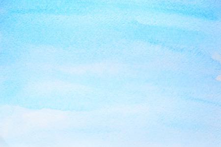 Azul cian fondo abstracto acuarela con textura de papel. Ilustración de trama