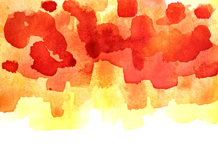 Colorful watercolor background with isolated edge. Vivid element for your design