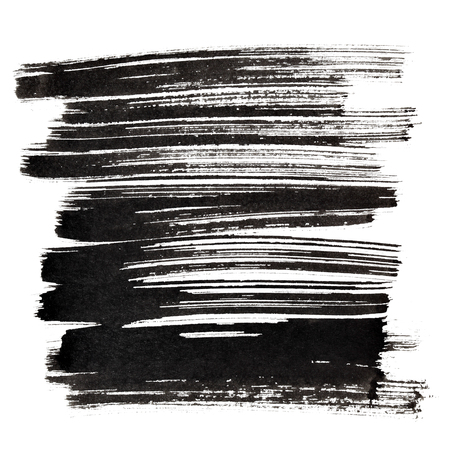 raster: Black brush strokes isolated on the white background. Element for your design