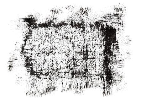 Black grunge frame by brush strokes. Element for your design