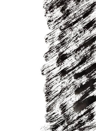 edge design: Black grunge brush strokes with edge. Graphic element for your design