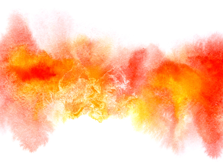 dim: Colorful diffluent watercolor stripe with stains. Abstract background. Vivid element for your design