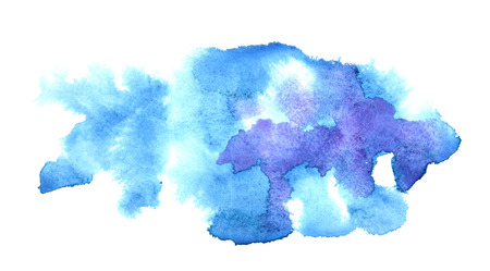 watercolour background: Blue water-colour stains. Abstract background. Element for your design