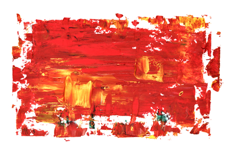 Red oil painting texture with brush strokes. Vivid abstract background