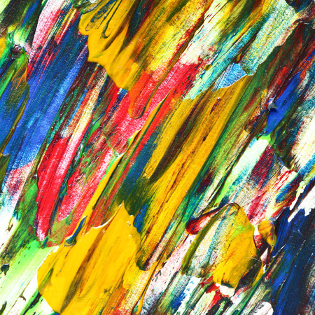 variegated: Variegated oil painting texture with brush strokes. Colorful abstract background