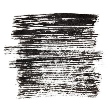 black grunge background: Black brush strokes. Grunge abstract background Stock Photo
