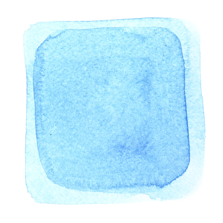 Light bue watercolor square frame. Abstract background Stock Photo