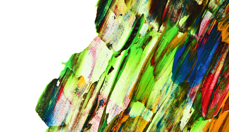 Colorful brush strokes. Abstract background with isolated edge