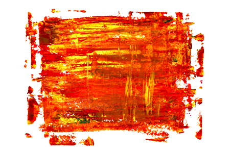 Red oil painting texture. Vivid abstract background